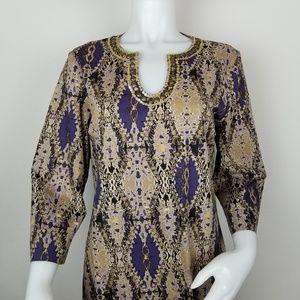 Dana Buchman Lg Tunic W/Embellished Neckline